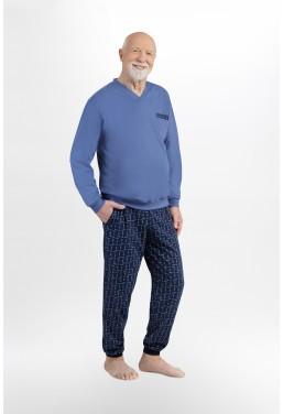 Męska piżama ze ściągaczami...